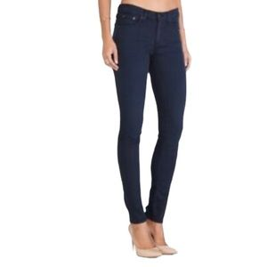 Rag & Bone Navy Distressed Skinny Jeans Size 27